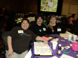 Becky Gay and her colleagues, Lisa Cox and Jill Alexander, from Communities in Schools of Fitzgerald-Ben Hill County, Inc. at the GOCF-funded Educators' Conference in 2011.