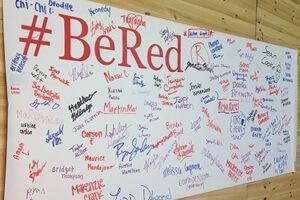 #BeRed