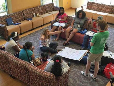 Team Meeting at Georgia Teen Institute